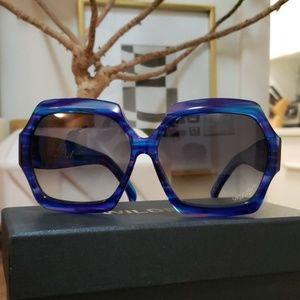 Wildfox Riviera oversized blue tiger sunglasses